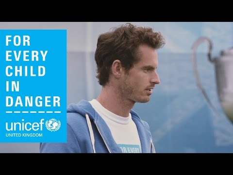 Richard Ayoade's exclusive interview with Andy Murray for Unicef