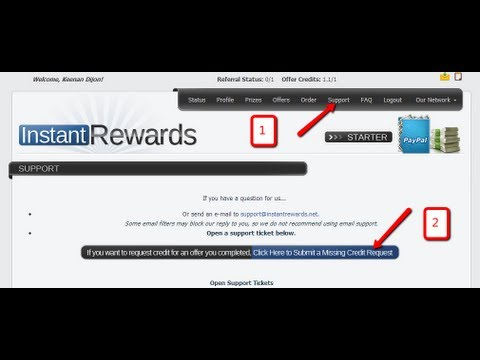 Instant Rewards How To Submit A Missing Credit Request