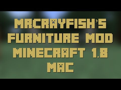 How to Install MrCrayFish's Furniture Mod for Minecraft 1.8 [Mac]
