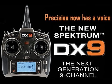 Spektrum DX9 programming for NazaM Part#1 System Setup Video#1