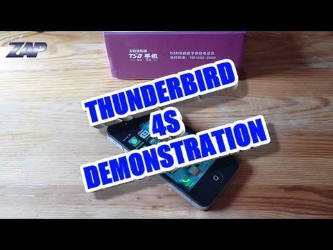 Thunderbird 4S Retina Review - MT6575 - Best iPhone Clone? Like Goophone Y5 ColonelZap