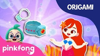 The Little Mermaid's Ring | Pinkfong Origami | Origami and Songs | Pinkfong Crafts for Children