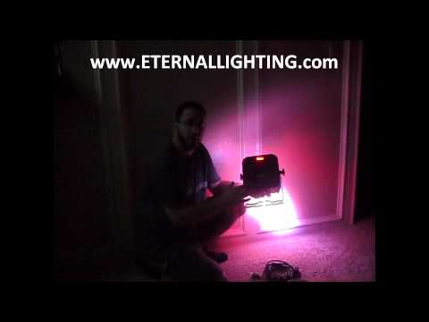 Eternal Lighting Cube™ Series Battery Powered - Rechargeable LED Par with built in DMX