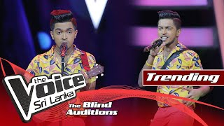 Janith Munasinghe - Dance Monkey | Blind Auditions | The Voice Sri Lanka