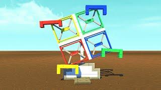 BUILD A THEME PARK CHALLENGE!? (Scrap Mechanic)