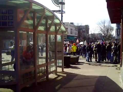 CLIP0074 March 12 2011 Saturday Madison Wisconsin Demonstrations Union Busting Protests