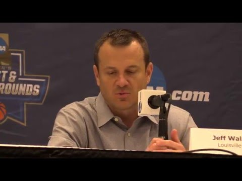 Jeff Walz, Myisha Hines-Allen & Mariya Moore Central Arkansas NCAA Tournament Post-Game 3-18-2016