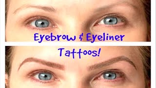 Eyebrows & Eyeliner Tattoos-Before&After!! Permanent Cosmetics