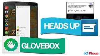 2 Apps para facilitar tu celular!! (Glovebox, Heads Up)