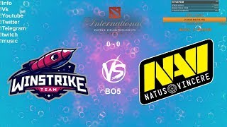 🔴 [RU] Winstrike Team VS Natus Vincere - The International 2019: CIS Qualifier Playoff BO5 Final