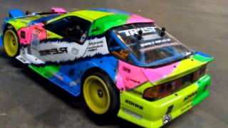 Daves RX7 FC RC Drift Even sounds like a rotary!