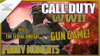 GUN GAME RAGE! WILL DEMOTING EVERYBODY! - Call Of Duty WW2 Funny Moments! (Call of Duty WWII)
