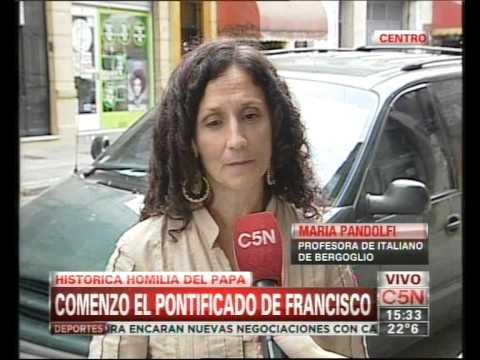 C5N - ASUNCION DEL PAPA HABLA SU PROFESORA DE ITALIANO