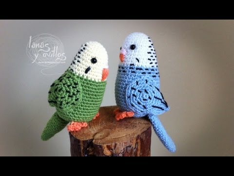 Tutorial Periquito Amigurumi Parakeet (English subtitles)