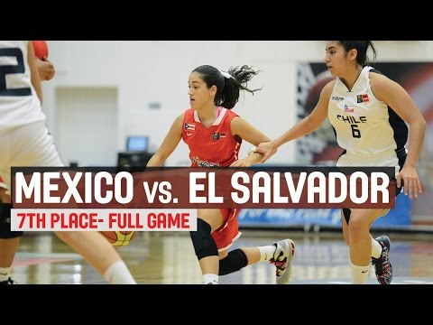 Mexico vs. El Salvador - 7th Place Game - 2014 FIBA Americas Championship for Women U18