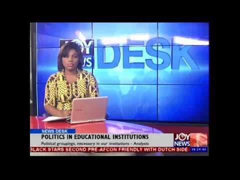 Politics in Educational Institutions - News Desk (9-01-15)