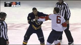 Evander Kane and Alex Petrovic fight (PART III) 02/09/16