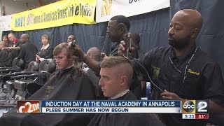 Induction Day at the U.S. Naval Academy in Annapolis