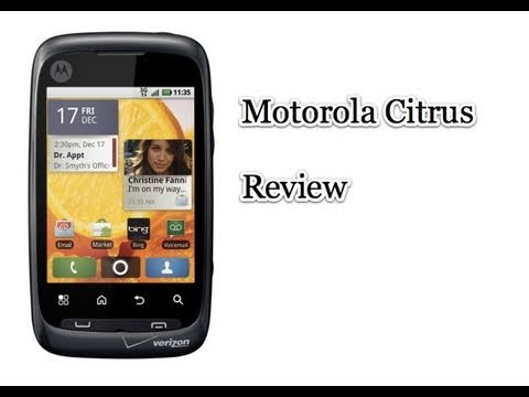 Video: Motorola Citrus Review