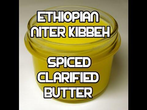 Ethiopian Spiced Butter Recipe - Niter Kibbeh Qibe Kibe ንጥር ...