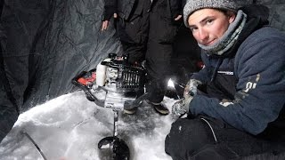 Two Idiots Get Auger Stuck in ICE!