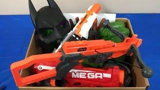 Box of Toys NERF Guns Toy Guns Batman Super Heroes