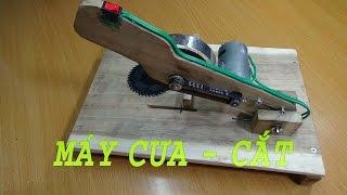 Hướng dẫn làm máy cưa, cắt để bàn 2 trong 1 - v3