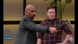 A Champion Axe Thrower || STEVE HARVEY