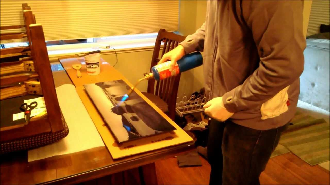 Brad Doing Epoxy Resin Coating On Metallic Print YouTube
