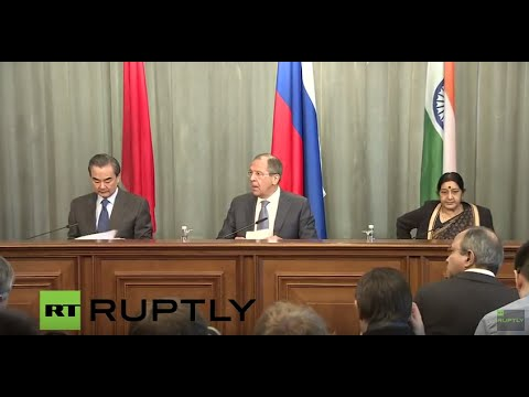 LIVE: Press conference concludes meeting between Chinese, Indian and Russian Foreign Ministers