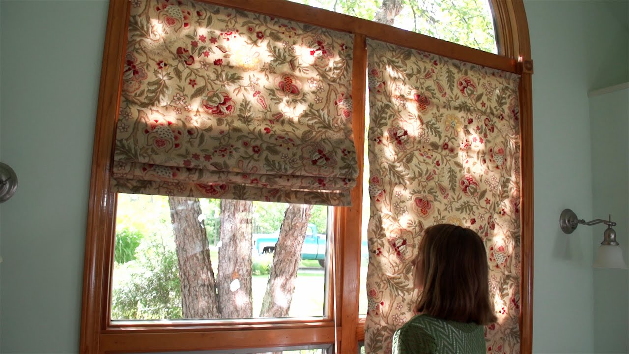how to make roman shades using iron on roman rib tape. Black Bedroom Furniture Sets. Home Design Ideas
