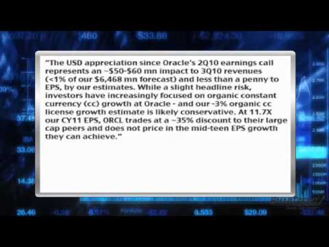 News Update: Morgan Stanley Says Strengthening USD Creates Headwinds For Oracle (NASDAQ:ORCL)