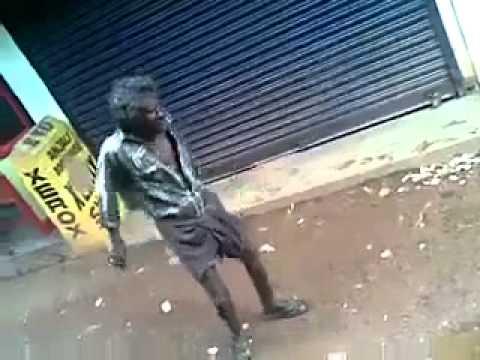 Drunk man gone crazy video