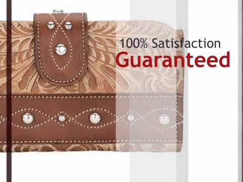 Over The Rainbow Ladies' Wallet   Caramel And Cream   Lonestarwesterndecor.com