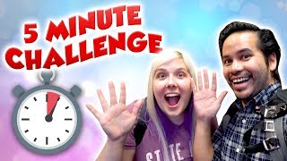 5 minute arcade challenge at City Fun Center - Who will win more tickets?