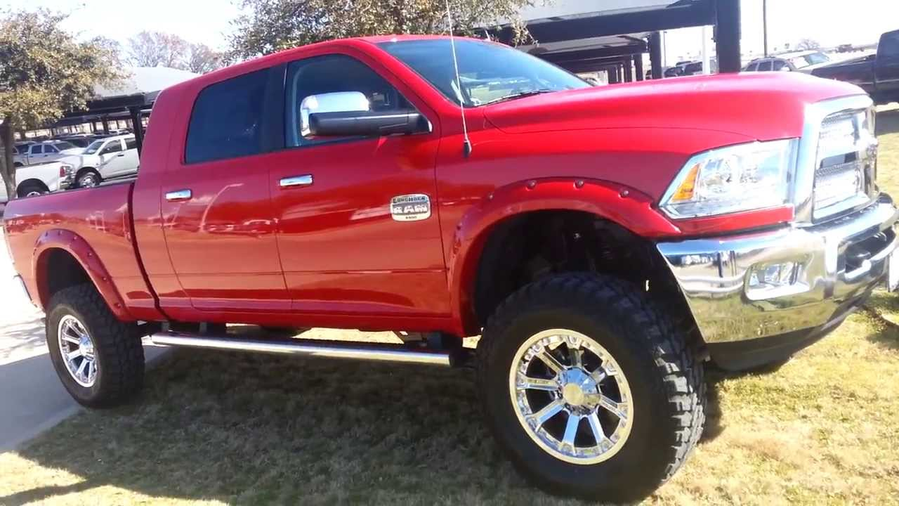 Big Bad Red Mud Ready Tricked Out 2014 Ram 3500 Mega Cab