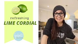 HOW TO: Lime Cordial | Sugar Free + Gluten Free + Dairy Free | Bridget's Healthy Kitchen