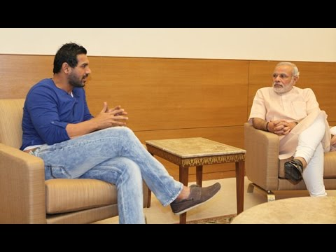 Bollywood Hero Johan Abraham meets to Narendra Modi