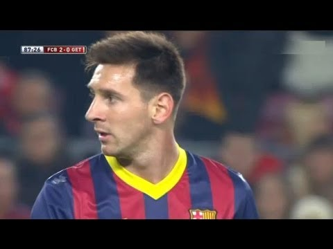 Barcelona  Vs Getafe (4-0) All Goals & Highlights 08.01.2014 Messi Is Back! video