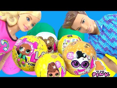 #BARBIE ЧЕЛЛЕНДЖ ЛОЛ! LOL SURPRISE + PLAY DOH BARBIE TOY CHALLENGE!  КУКЛЫ ЛОЛ! Игрушки My Toys Pink