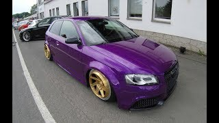 AUDI RS3D 8P ! GOLDEN RAD48 WHEELS ! RS3 TDI ! LOWERED SHOW CAR ! WALKAROUND !