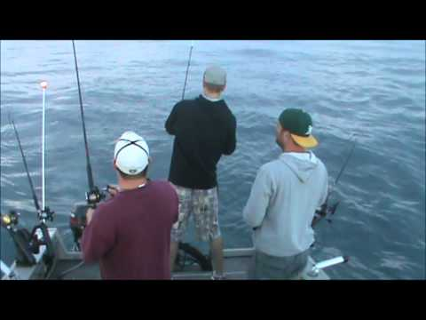 Lake Michigan Salmon Fishing - Welcome to Clusterville - Population 3