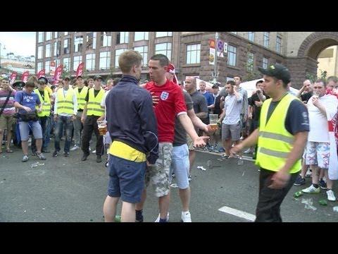 Cruce de hinchadas en Eurocopa