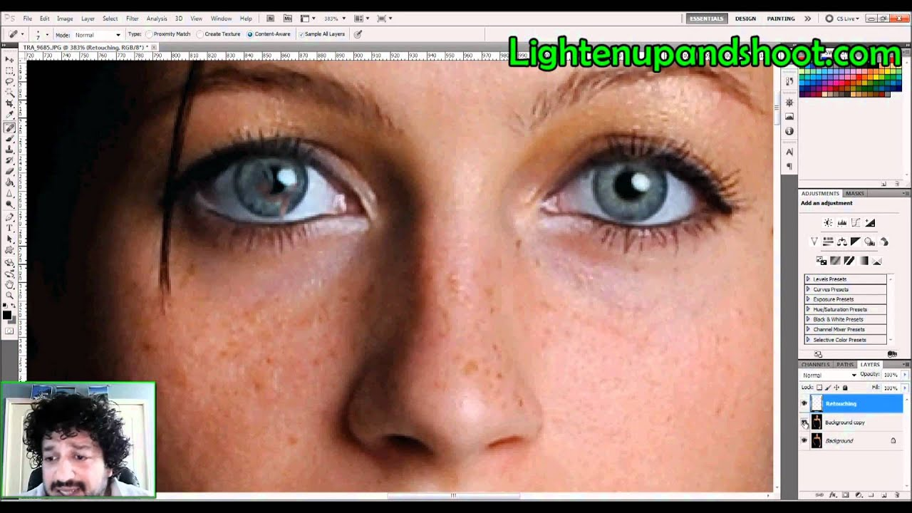 Soften skin in photoshop how to