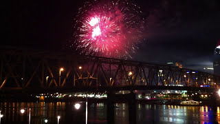 Fireworks Display in Downtown Cincinnati After the Reds Baseball Game on April 7, 2012