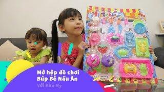 Mở hộp đồ chơi BÚP BÊ BARBIE nhà bếp - Barbie dolls colection toys Unboxing - Khả My Kids TV