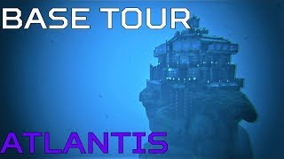 Ragnarok UNDERWATER BASE Atlantis BASE TOUR | Ark Survival [NO MODS]