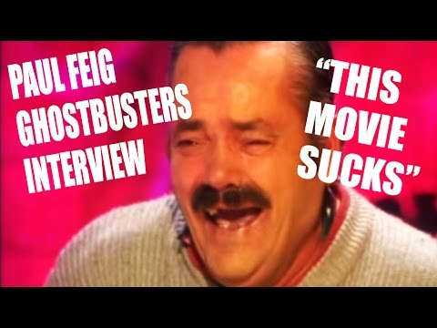 """GHOSTBUSTERS 2016 Paul Feig Interview """"This Movie Sucks!"""""""