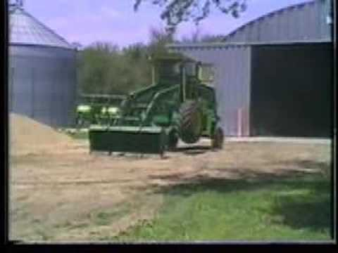 Combine Turned into Loader Tractor