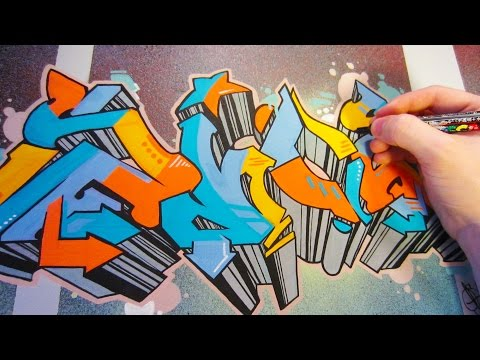Big Graffiti Canvas Piece Speed Art
